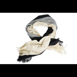 🆕 Donni tri-color scarf.  Black, gray and cream